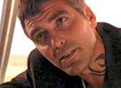 George clooneys tattoo in from dusk till dawn one of the most asked about tribal tattoos in the movies is the fragment you see coming out of george clooneys shirt neckline in from dusk till dawn maxwellsz